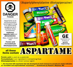 How has the neurotoxin sweetener aspartame affected your life?