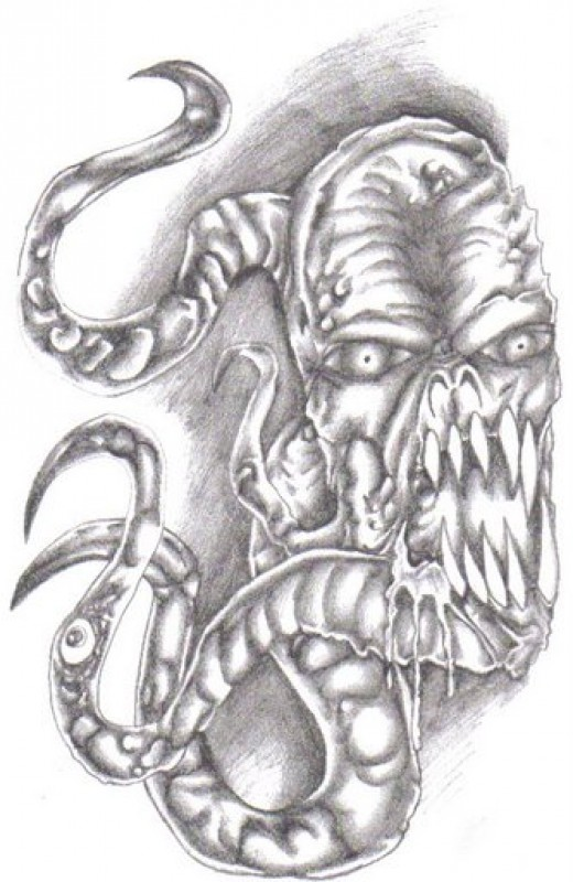 An original and I have lots of these in my sketchbooks,demonic mask designs.