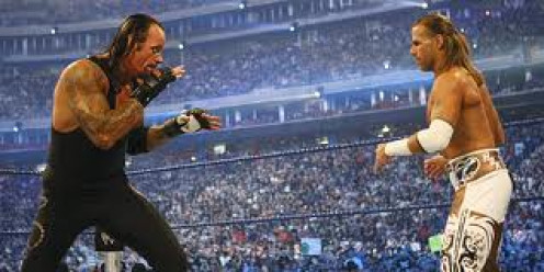 The Undertaker vs. Shawn Michaels. These two wrestlers have a storied history especially at Wrestlemania.