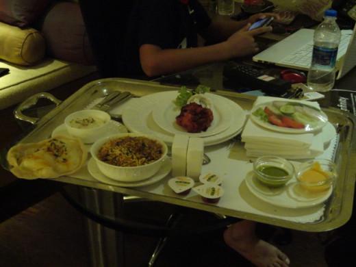 Last dinner of the Goa trip