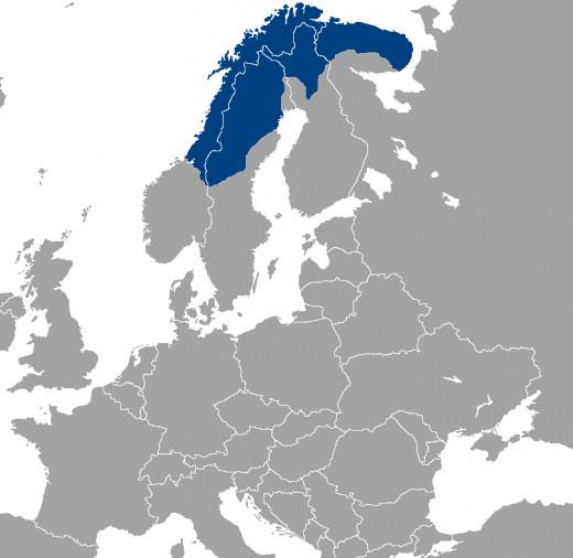 The current area of Sami habitation