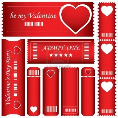 Valentine printout tickets.