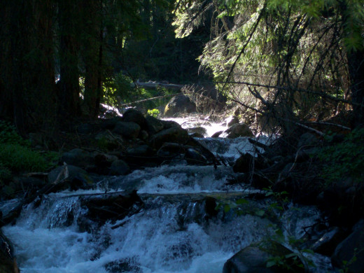 Bailey Creek, flowng from Lassen Volcanic NP