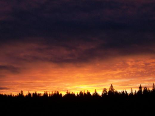 Morning sky, Southern Cascades