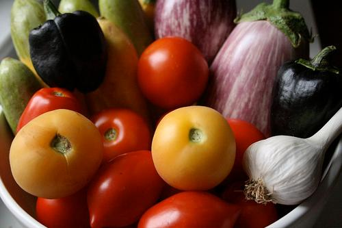 Garden vegetables are low in calories and high in vitamins and nutrients. Center your diet around fresh vegetables and watch your weight go down.