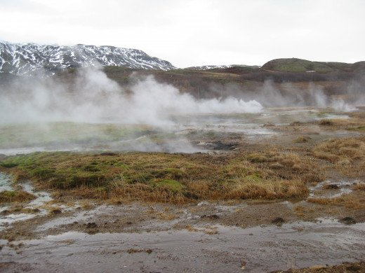 Geyser: an area filled with, well you guessed it: Geysers.