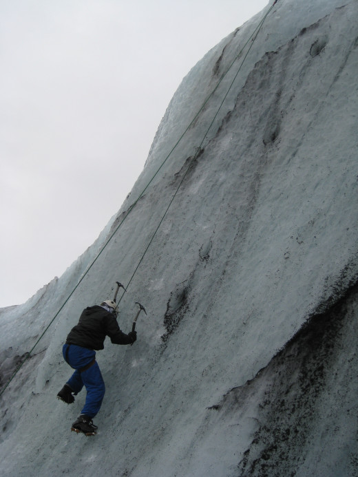 Try your hand at ice climbing, many tours will offer this on your hike.