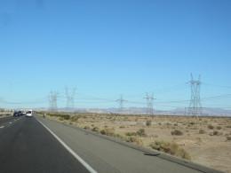 Traveling Along Interstate 15 in California's Mojave Desert