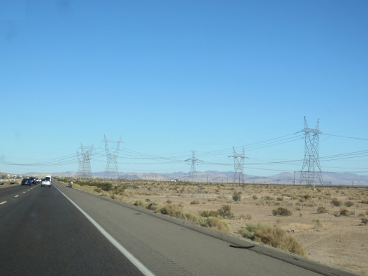 Traveling Along Interstate 15 in California's Mojave Desert