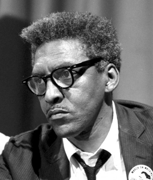 Bayard Rustin in Washington, DC immediately prior to the 1963 March on Washington.