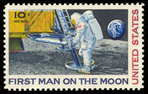 Moon Landing postage stamp