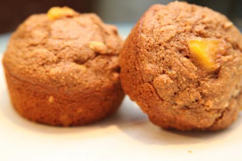 Peachy Flax Molasses Muffins