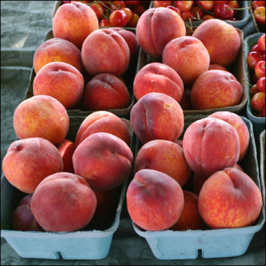Peaches from a nearby Farmer's Market!
