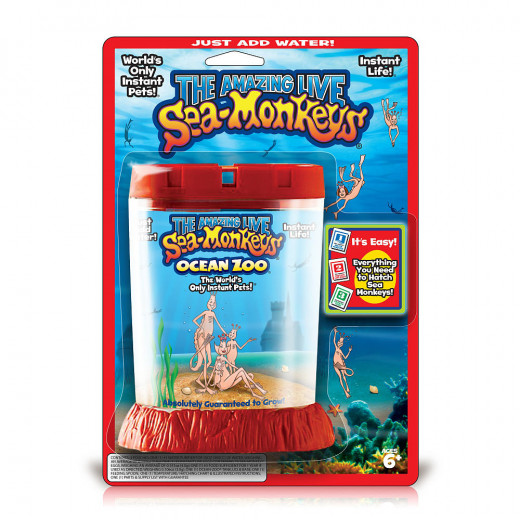 An ad similar to the one in the above photo was run in the late 1950s through the 1960s in comic books offering sea monkeys for sale.