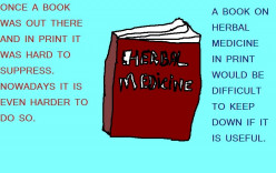 Herbal medicine information in as book was hard to suppress.