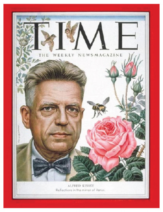 This Time Magazine cover, from 1953, was one of three that paid homage to Kinsey's work.