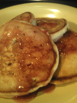 We Use Warmed Fruit Preserves instead of sugary syrup!
