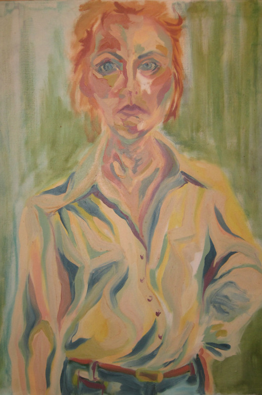 Self Portrait - Oil painting from a photograph.