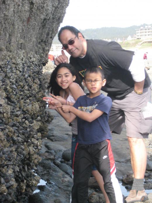 Exploring sea life on Oregon's Coast at Cannon Beach