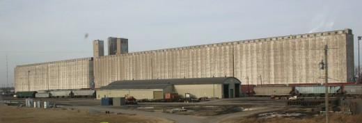 One of the largest grain elevators in Kansas