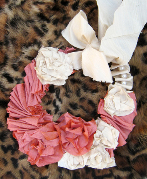 Inspiration for your ribbon and silk blossom tiebacks.