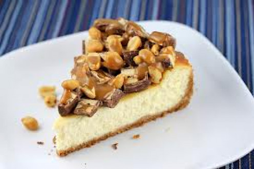 Snickers Cheesecake is a delicious dessert.