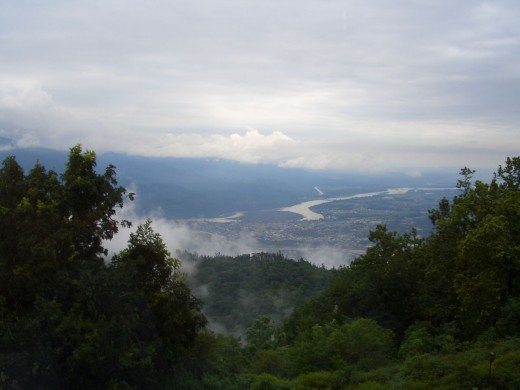 A View of Himalayas from Rishikesh