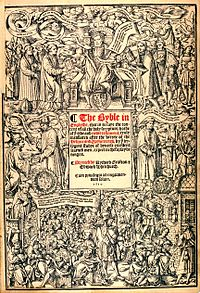 Title page of The Great Bible of Henry VIII