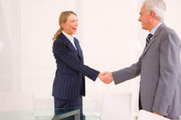 Making eye contact with the person you are greeting allows you to keep your focus during the conversation with that person.