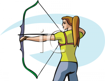 This is how you should hold the bow while shooting it.