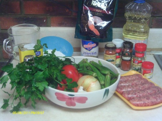 Gumbo ingredients