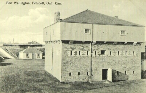 Postcard of Fort Wellington, Prescott, Ontario, Canada, circa 1930
