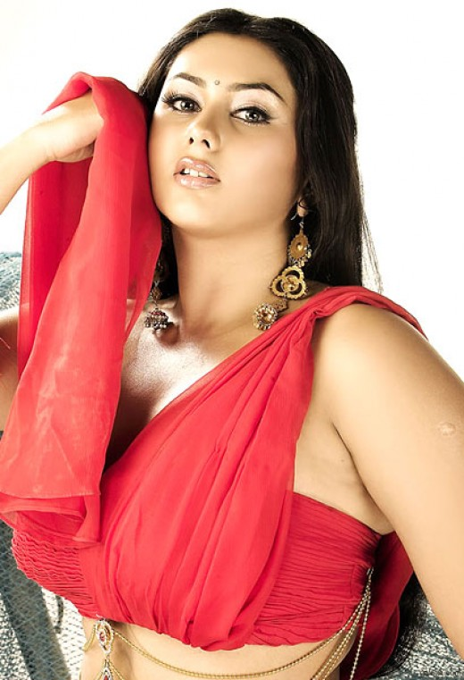 namitha sexy in red