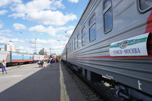 Mockba - Tomck... thats Moscow to Tomsk.
