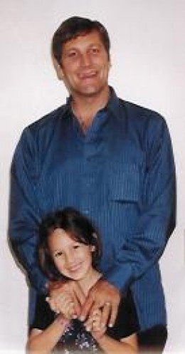 David and his daughter in 2000