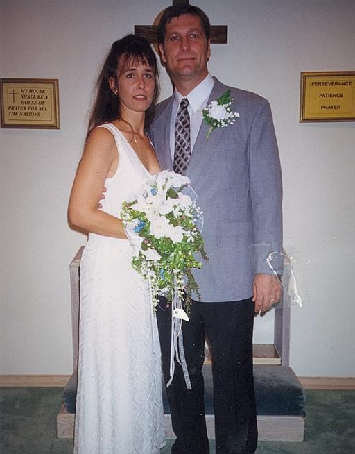 Our wedding in 1998