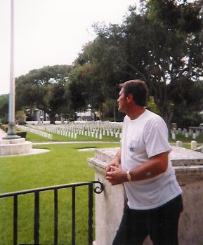 David at St. Augustine Military Cemetery in 1998