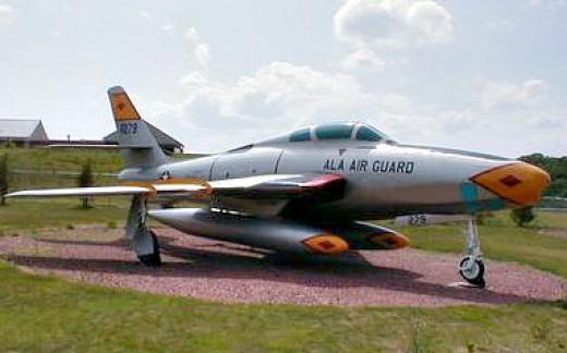 Air National Guard F84 aircraft on display