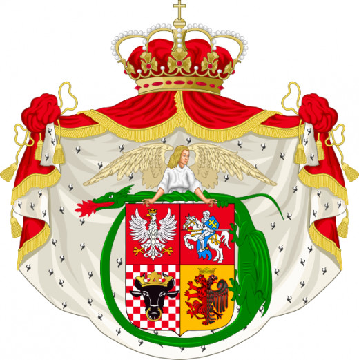 As King of Poland, Jogaila was entitled to a pimp coat of arms.