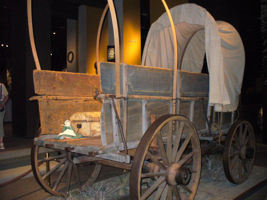 Neat Old Covered Wagon that families traveled in so long ago.