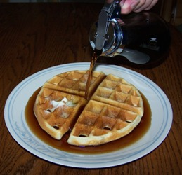 Would you like some waffle with that syrup?