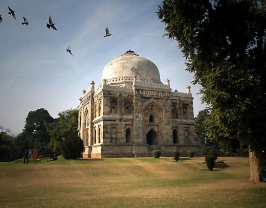 A View of Sheesh Gumbad inside Lodi Garden