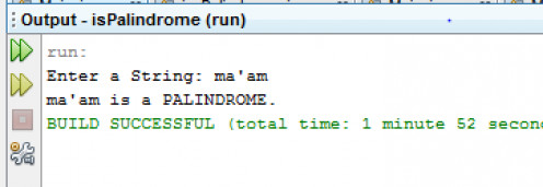 Java Program Examples in Netbeans: Palindrome Test Java