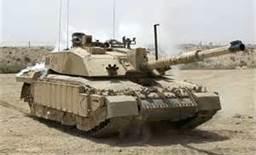 British Challenger 2 tank in Basra