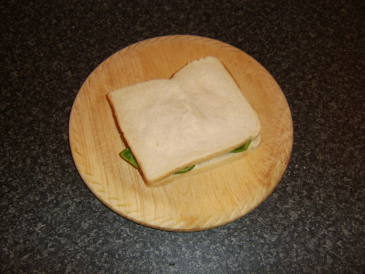 Cucumber, lettuce and tomato sandwich is complete