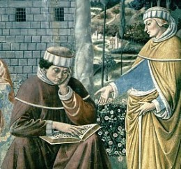 """In his thirties, St. Augustine was still undecided about becoming Christian. He sat one day with his Bible, frustrated by his inability to understand. Then, he heard a voice saying, """"Take and read. Take and read."""" He did, and the rest is history."""