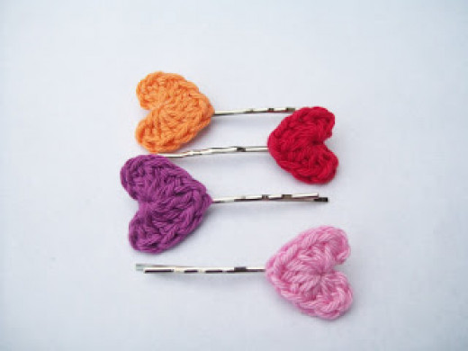Sweet and simple Bobbie Pin Hearts