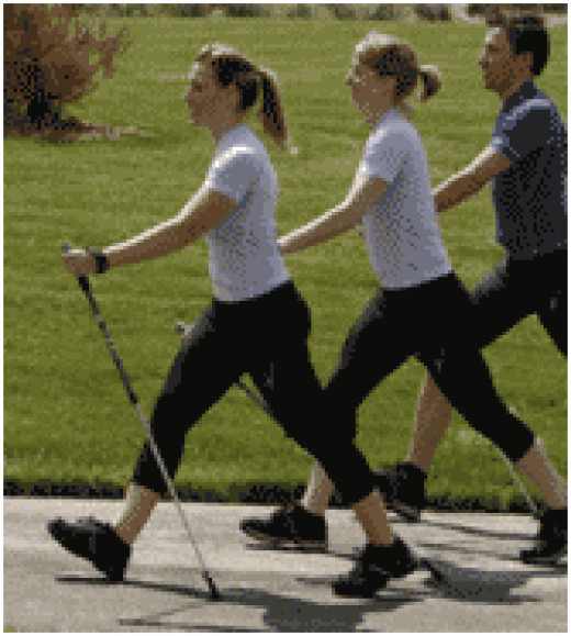 Exercising with walking poles is a great way to get and stay fit.