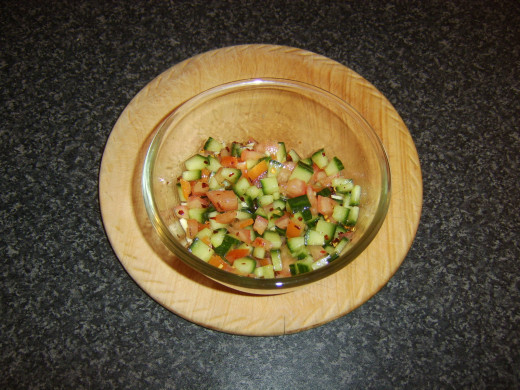 Simple cucumber salsa