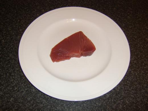 Fresh tuna loin steak